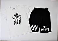 Мужской летний комплект футболка с шортами офф вайт влон, Off-white Vlon, реплика, фото 1