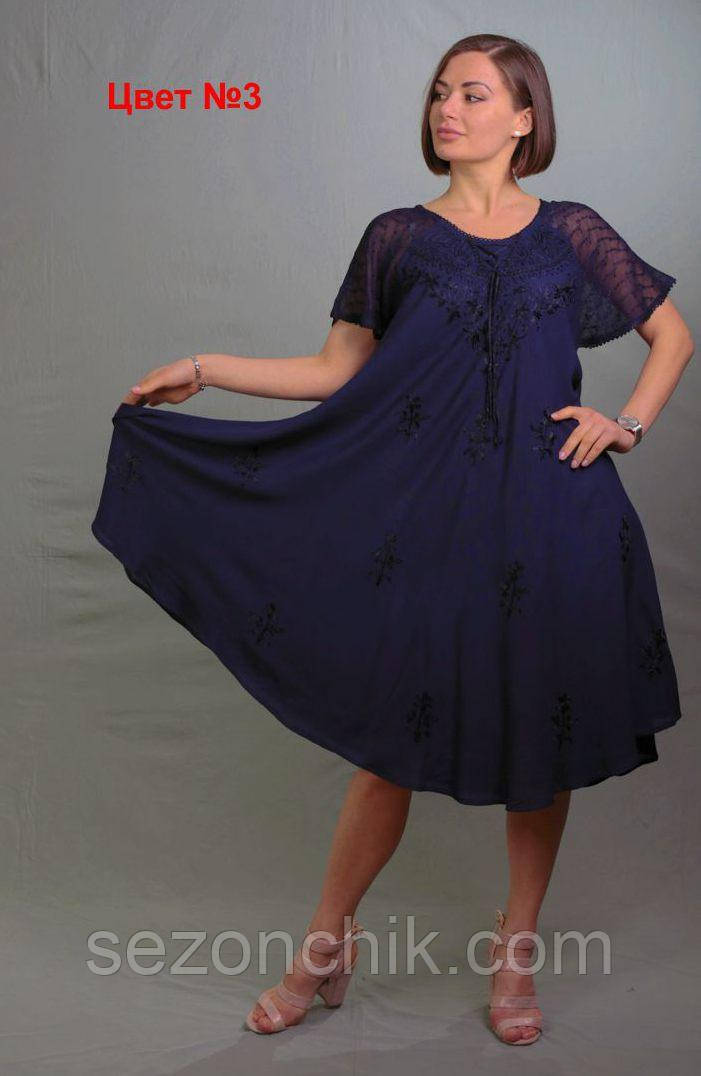 Платье женское на лето легкое удлинённое