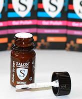 Salon Professional Ярко белый гель с кисточкой , 15 мл