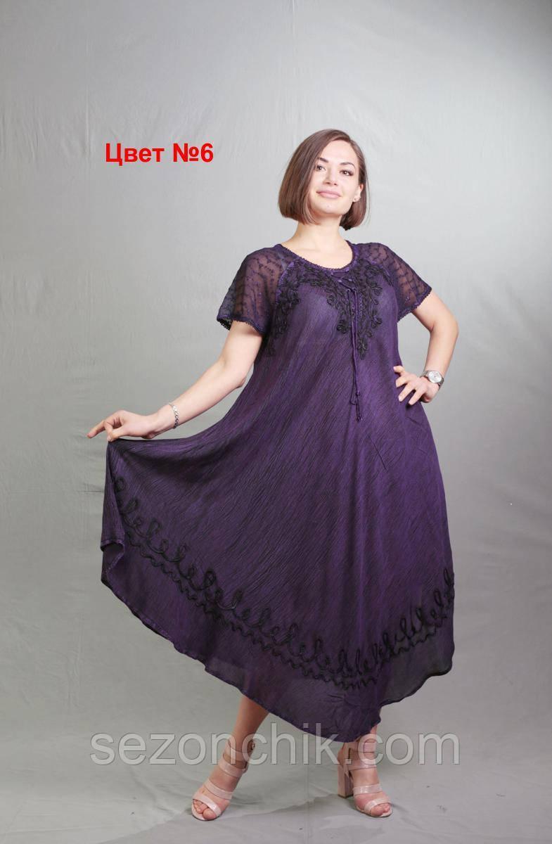 Красивое платье женское на лето свободного кроя