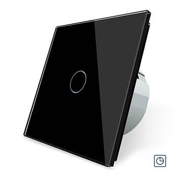 Сенсорный выключатель таймер Выключатель с реле времени Livolo цвет черный (VL-C701T-12)