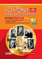 Все уроки Основа Украинская литература 10 класс ІІ семестр Профиль - украинская филология