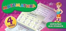 Учебные мини плакаты УЛА Математика 4 класс