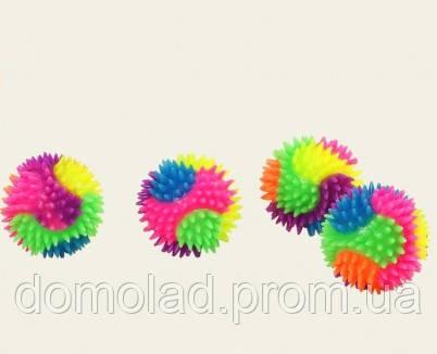 Мяч Попрыгунчик С Шипами Flashing Spiky Ball Оригинальная Прикольная Игрушка Попрыгунчик В Упаковке 24 Шт
