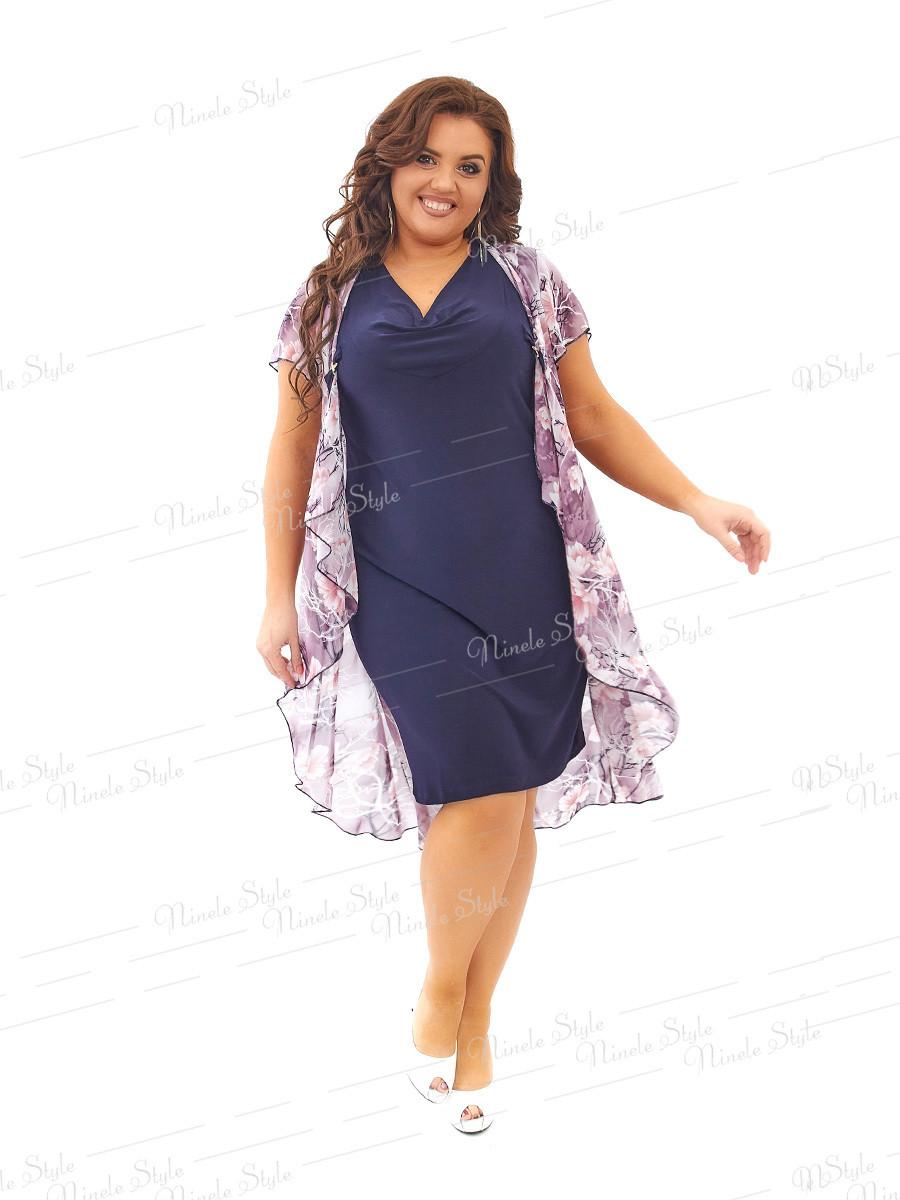 Платье  шифоновое 443 54