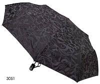 Зонт женский полуавтомат черный с разводами, фото 1