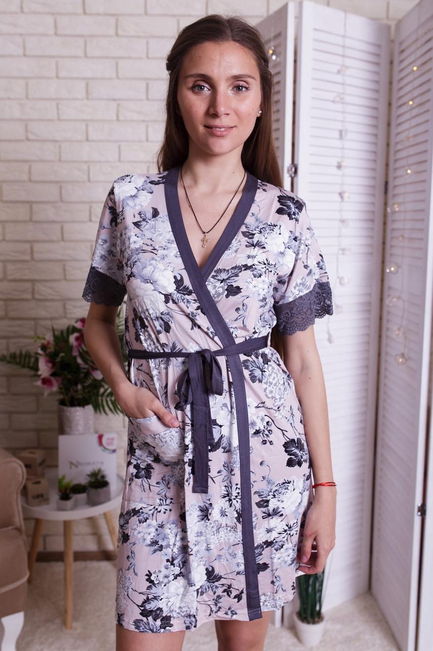 Женский  халат  из вискозы Nicoletta 91123