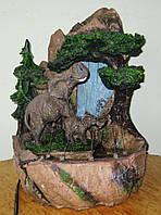 Фонтан Слоны хобот вверх подсветка 40 Нов 142