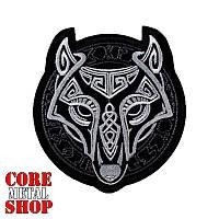 Нашивка с вышивкой Волк 4 Викинг