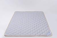 Наматрасник из овечьей шерсти мериносов 100х200 см GoodnightStore Серый с белым В полоску + Антимолевый чехол