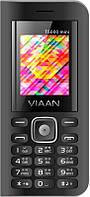 "Мобильный телефон Viaan V11 Dual Sim Black; 1.77"" (160х128) TN / клавиатурный моноблок / 32 МБ встроенной + microSD до 32 ГБ / камера 0.3 Мп / 2G"