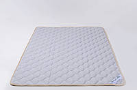 Наматрасник из овечьей шерсти мериносов 160х200 см GoodnightStore Серый с белым В полоску + Антимолевый чехол