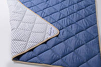 Одеяло из овечьей шерсти мериносов  140х200 см Goodnight Store Бело-синий Антиаллергенное