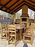 Садовая мебель из массива дерева 2500х1000 от производителя для дачи, кафе, комплект Furniture set - 21/2, фото 3