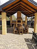 Садовая мебель из массива дерева 2500х1000 от производителя для дачи, кафе, комплект Furniture set - 21/2, фото 4