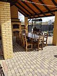 Садовая мебель из массива дерева 2500х1000 от производителя для дачи, кафе, комплект Furniture set - 21/2, фото 5