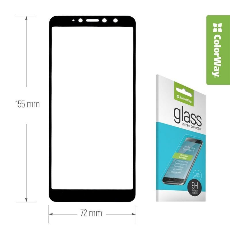 Защитное стекло ColorWay для Apple iPhone X/XS Black, 0.33mm, 3D (CW-GSFGAIXS-BK)