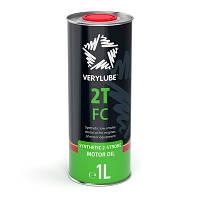 Синтетическое масло для двухтактных двигателей мототехники Verylube 2T FC 1л