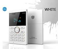 Мобильный телефон кардфон iFcane E1 с microSD (цвет: белый) русский язык