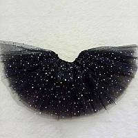 Черная фатиновая юбка  со звездами Ночка  для девочек, фото 1