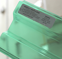 Прозрачный шифер Ондекс зеленый 1,095 х 2,5 м