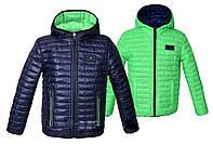 Двусторонняя куртка  для мальчиков и подростков  весна-осень