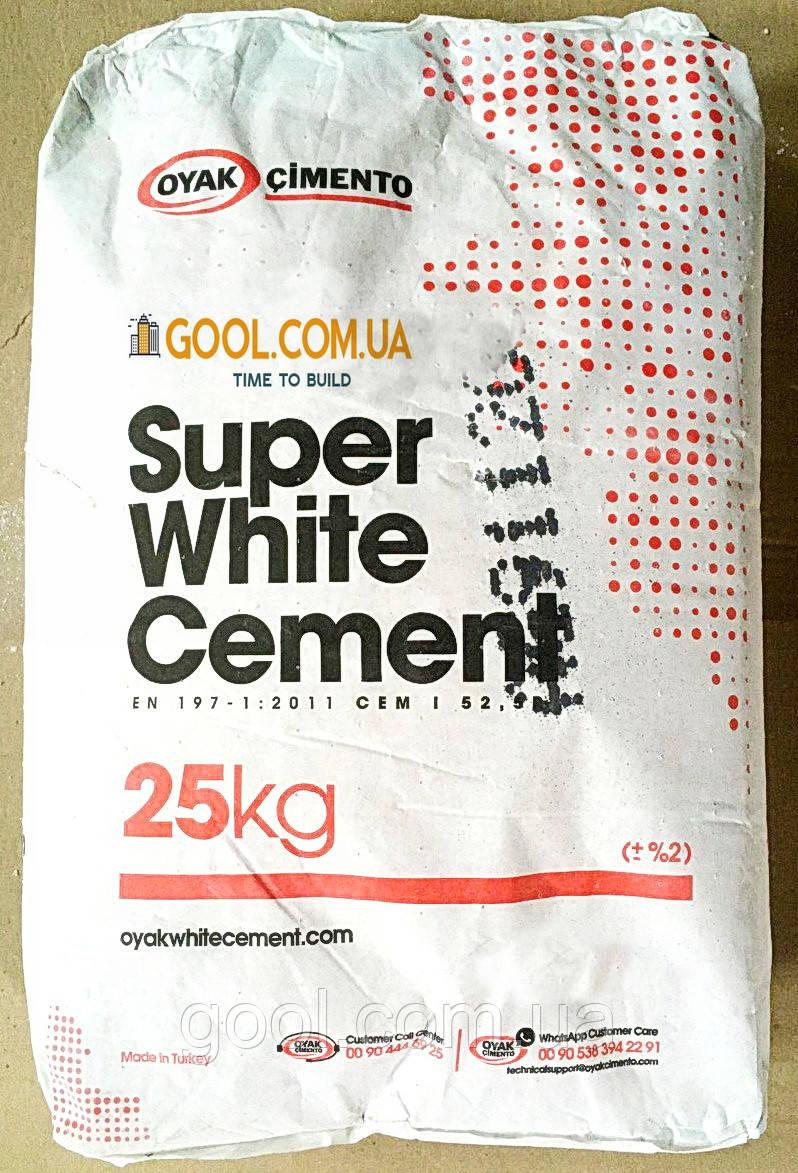 Белый цемент Adana Oyak Cimento 52.5 R Турция мешок 25 кг высший сорт марка 600