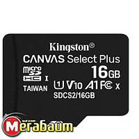 Карта памяти MicroSDHC 16GB UHS-I Class 10 Kingston Canvas Select Plus R100MB/s (SDCS2/16GBSP)