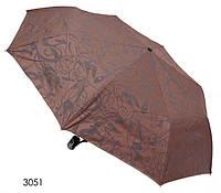 Зонт женский полуавтомат коричневый с разводами
