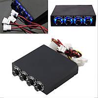 Реобас 3.5 дюйма, 5-12В, 4 канала, регулятор скорости вращения вентиляторов ПК, реобас для компьютера