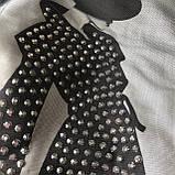 Чорна футболка на дівчинку 48 .Розміри 128 см, 140 см, 152 см, 164 см, 176 см, фото 2