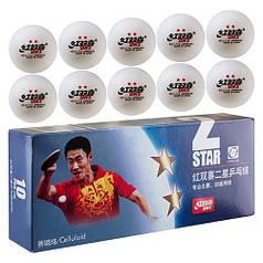 Кульки для настільного тенісу DHS 2*, білий, 10шт