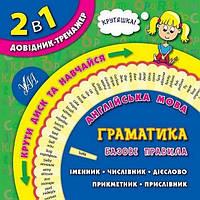 Книга 2 в 1 Довідник-тренажер 1-4 класи Англ. мова Граматика Укр УЛА