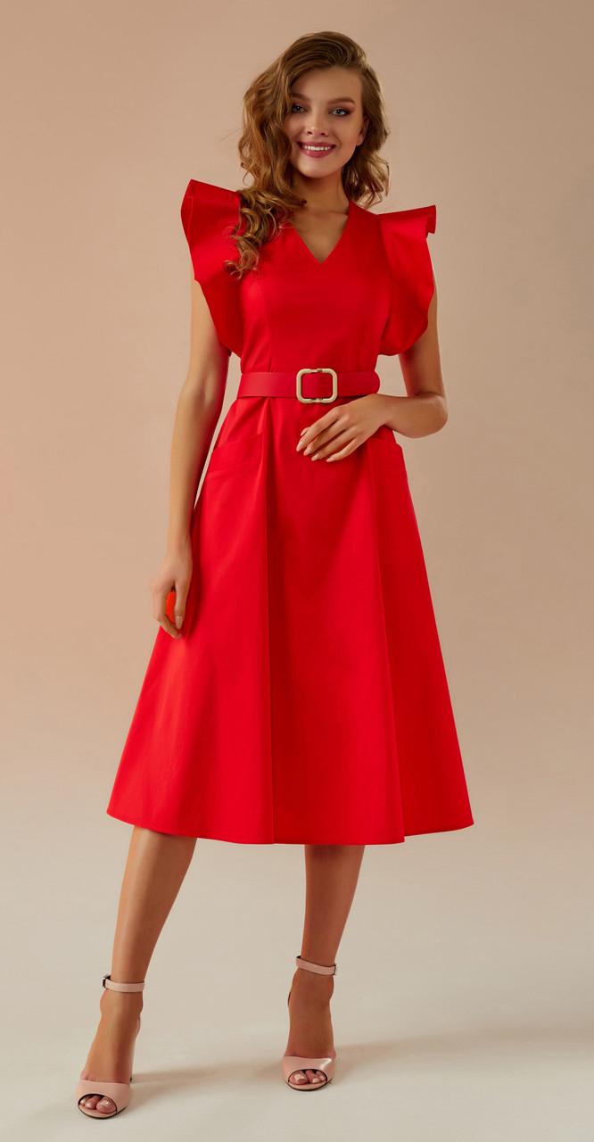 Платье Andrea Fashion-AF-27/1 белорусский трикотаж, красный, 44