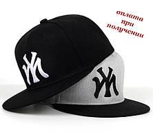 Чоловіча молодіжна кепка реперка блайзер прямий козирок Snapback NY New York