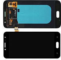 Дисплей модуль для Samsung J250F Galaxy J2 (2018) в зборі з тачскріном, чорний, оригінальний (переклеєне скло)