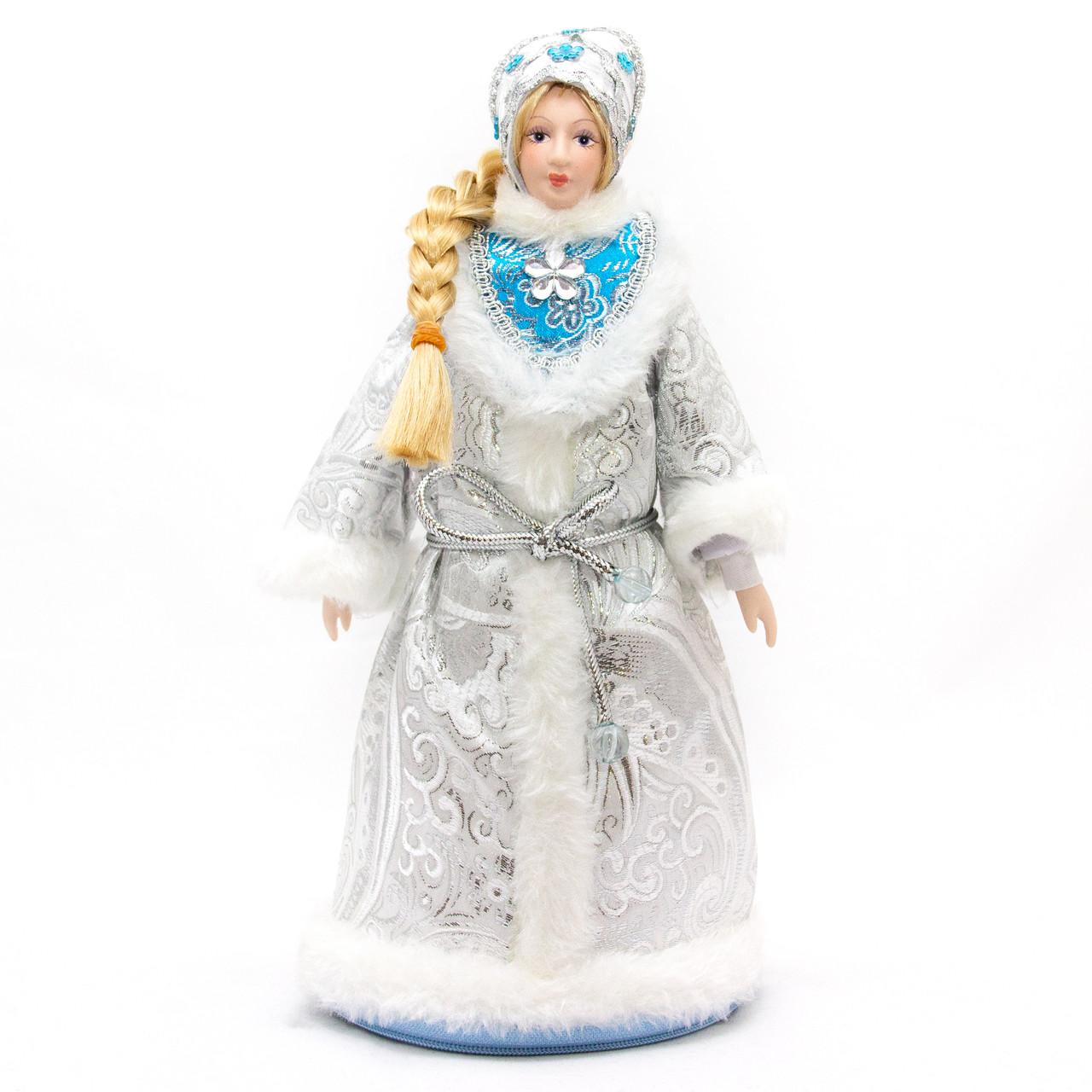 Снегурочка, 33 см, серебристый, пластик, полиэстер (180479-5)