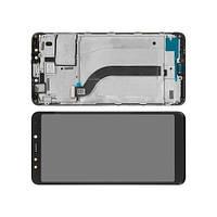 Дисплей Xiaomi Redmi 5 модуль в сборе с тачскрином, черный, с рамкой, оригинальный