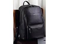 """Стильный рюкзак кожаный для ноутбука 15"""" 15.6"""" вместительный мужской дышащая спинка"""