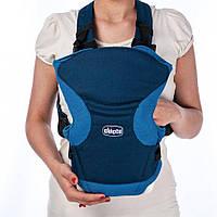 Эрго рюкзак-кенгуру для детей Chicco GO BABY Синий слинг шарф переноска для новорожденных