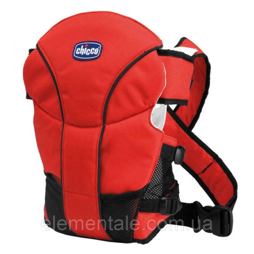 Эрго рюкзак-кенгуру для детей Chicco GO BABY Красный слинг шарф переноска для новорожденных