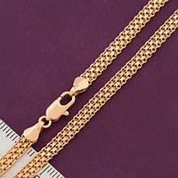 Ланцюжок xuping 4мм 60см позолота 18к подвійний бісмарк ц714, фото 1