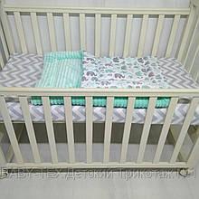 Плед для новорожденных Т.М.Миля 80х110см Слоники с плюшем мятного цвета