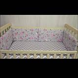 Захист - бортик в ліжечко (дитячу колиску) для хлопчиків та дівчаток, фото 2