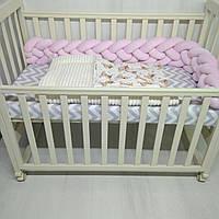 Плед в коляску плюшевый для новорожденных Т.М.Миля 78х110см Мишки Тедди с плюшем голубого цвета