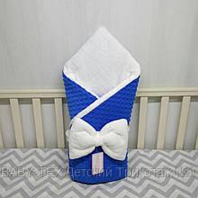 """Плюшевый конверт на выписку со съемным синтепоном,зимний конверт одеяло""""Миля"""""""