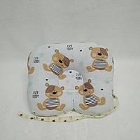 Антиалергенная ортопедическая подушка для младенцев Мишка Тедди со Звездами  22 х 26 см (186)
