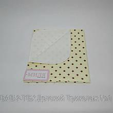 Пеленка непромокаемая Звездочки шоколадные 70 х 80 см Тм Миля(0559)