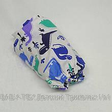 Простынь на резинке в детскую коляску Миля хлопоковая Дракончики  60 х 120 см (0253)
