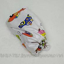 Простынь на резинке в детскую коляску Миля хлопоковая Ретро машинки 60 х 120 см (0259)